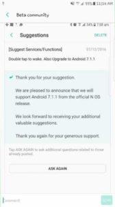 Samsung Android 7.1.1 Nougat