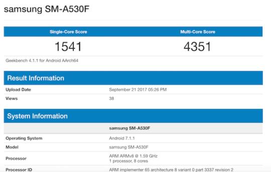 Характеристики Galaxy A5 (2018) SM-A530F