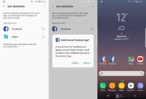 Dual Messenger в Android 8.0 Oreo