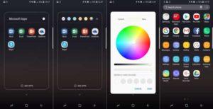 Выбор цвета для папок в Android 8.0 Oreo