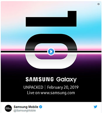 Samsung Galaxy UNPACKED 20.02.2019